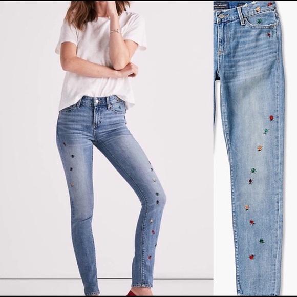 Lucky Brand Denim - Luck Brand Skinny Jean Ditsy Bug Embroidery